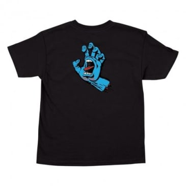 SANTA CRUZ Youth Screaming Hand Tee Black
