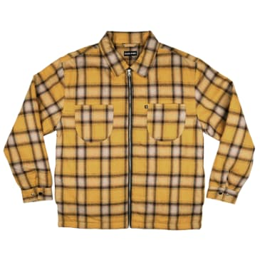Pass~Port Quilted Zip Flannel Jacket - Mustard