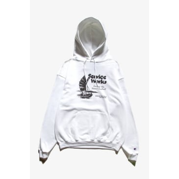 Service Works Sail Away Hoodie - White