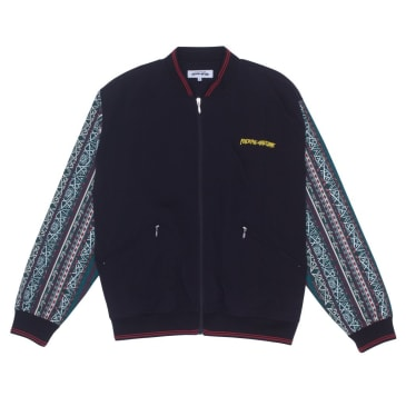 Fucking Awesome Pattern Sleeve Track Jacket - Black / Bengal