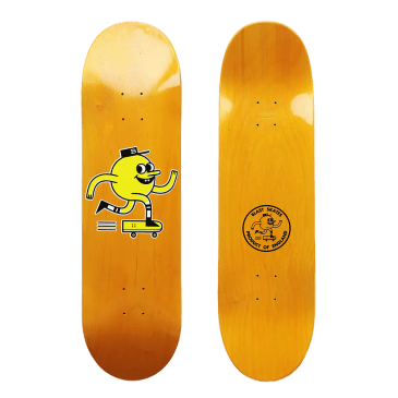 Blast Skates Orange Skateboard Deck - 9""