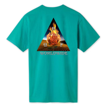HUF Ember Rose Triple Triangle Tee Quetzal Green