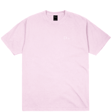 Dime Classic Logo Embroidered T-Shirt - Light Pink