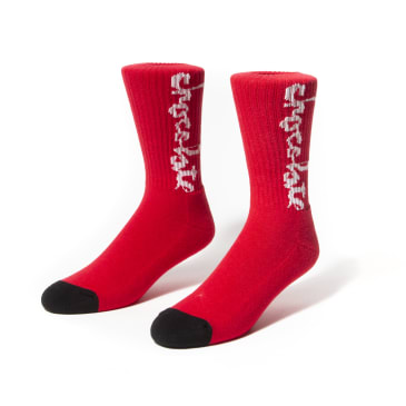 Chocolate W37 Chunk Socks Red