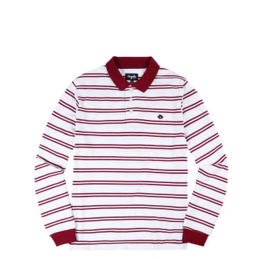 Magenta Stripped Polo L/S Shirt