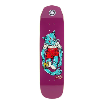 Welcome Skateboards Nora Vasconcellos Teddy on Wicked Princess Skateboard Deck Grape - 8.125""