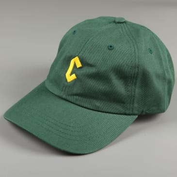 Chrystie 'Small C' 6 Panel Dad Hat (Spruce)