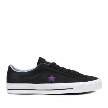 Converse CONS One Star Pro Dinosaur Jr Ox Shoes - Black / Purple / White