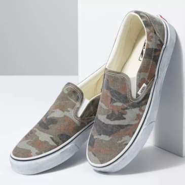Vans Womens Classic Slip-On Washed Camo