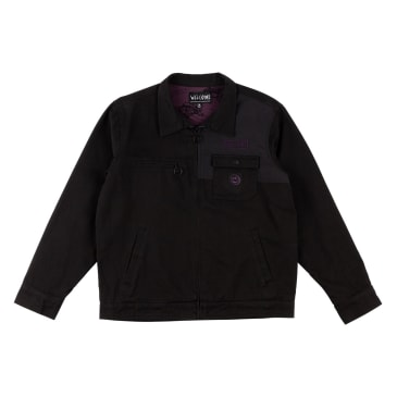 Welcome Skateboards Terminus Canvas Zip Jacket - Black