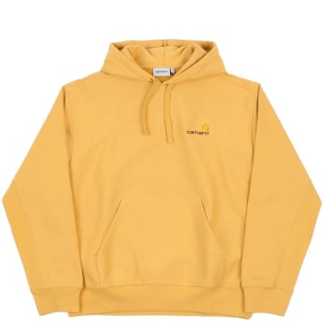 Carhartt WIP American Script Hooded Sweatshirt - Winter Sun