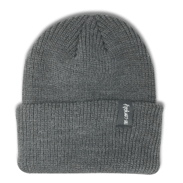 No-Comply Script Beanie Dark Grey
