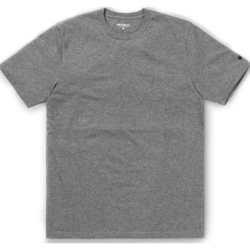 Carhartt WIP Base T-Shirt - Dark Grey Heather / Black