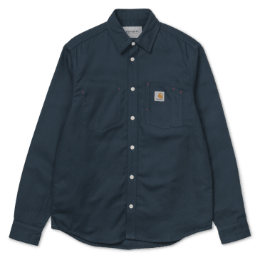 Carhartt WIP L/S Tony Shirt - Duck Blue Rigid