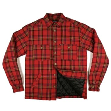 Passport Late Quilted Flannel Jacket - Red