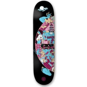 """The Drawing Boards - 8.0"""" Wheel Of Life Deck - Black"""