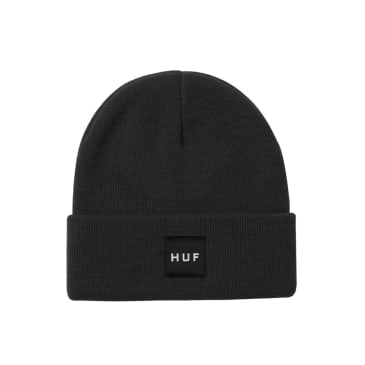 HUF Essentials Box Logo Beanie Black