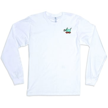 Quasi Sk8dog Embroidered Long Sleeve T-Shirt - White
