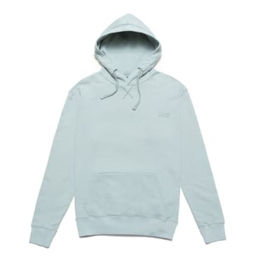 Chrystie NYC Garment Dye Classic Logo Pullover Hoodie - Washed Blue