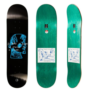 Polar Skate Co I Prefer Marble Black Skateboard Deck - 8""