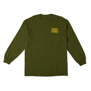 ANTIHERO Reserve Longsleeve Military Green/Yellow