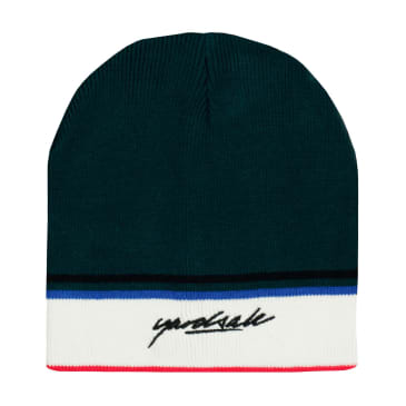 Yardsale Penny Beanie - Forest / Cream