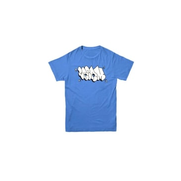 Cream Graffiti Logo Tee (Powder Blue/White)
