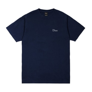 Dime Classic Logo Embroidered T-Shirt - Navy