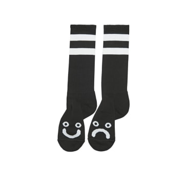 Polar Happy/Sad socks extra long - Black