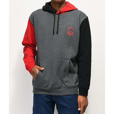 Spitfire Bighead Block Grey, Red & Black Hoodie