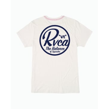 RVCA Patch Seal Tee Antique White