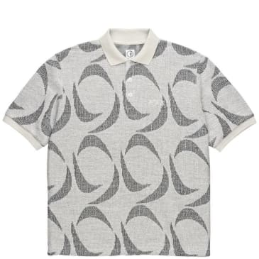 Polar Skate Co Patterned Polo Shirt - Ivory / Black