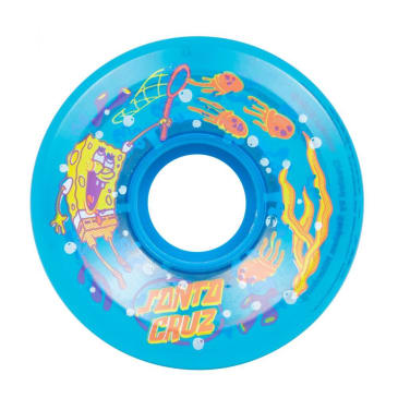 "Slime Balls ""SpongeBob JellyFishing"" Skateboard Wheels (Blue) 78a 60mm"