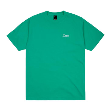 Dime Classic Logo Embroidered T-Shirt - Emerald