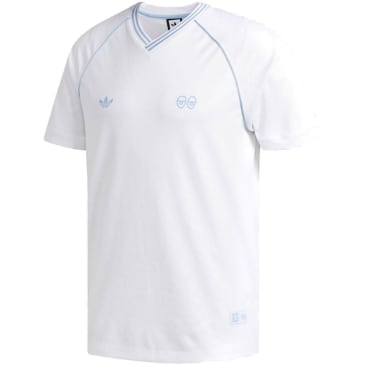 adidas Krooked Gonz Jersey - White/Clear Blue