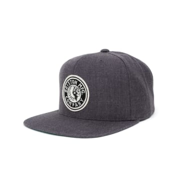 Brixton Rival Snapback Cap - Charcoal Heather