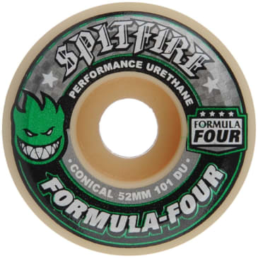 Spitfire Formula Four 52mm 101A Conical Wheels (Green Print)