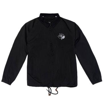 Magenta Outline Coach Jacket - Black