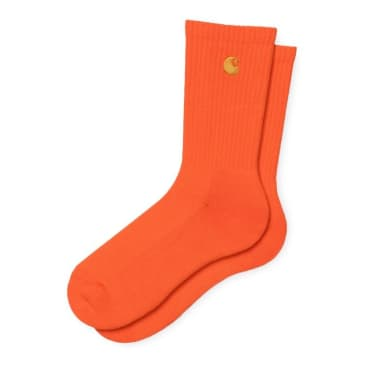 Carhartt WIP Chase Socks - Safety Orange/Gold