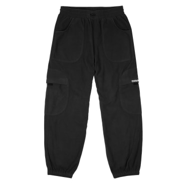 Dime Fleece Round Cargo Pants - Black
