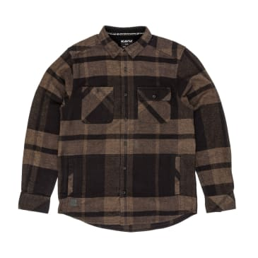 KAVU Baxter Long Sleeve Shirt - Earth