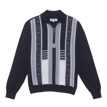 Fucking Awesome Polo Sweater - Black / Grey