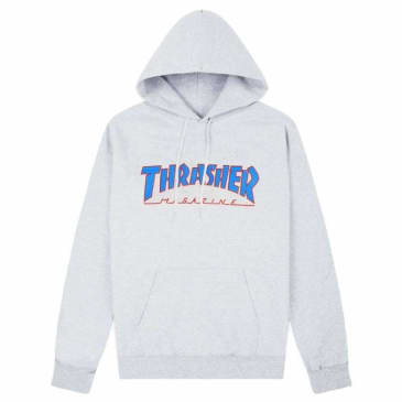 Thrasher Outlined Logo Hoody Ash Gray