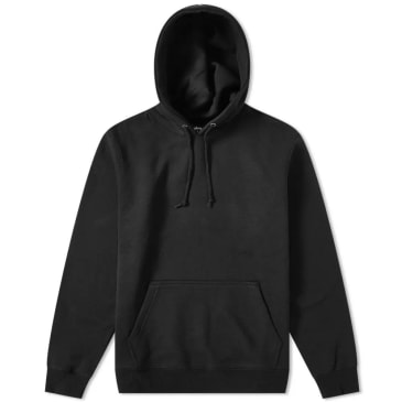 Stüssy Smooth Stock Applique Hoodie - Black