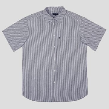 """PASS~PORT """"HICKORY WORKERS"""" SHIRT S/S NAVY"""