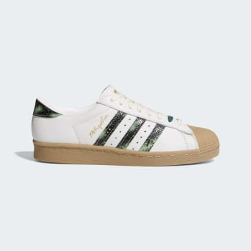 Adidas Superstar 80s x Metropolitan Skateboarding Shoes - Crystal White/Collegiate Green/Gum