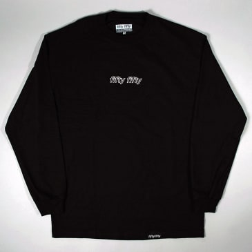 Fifty Fifty Outline LS T-Shirt Black