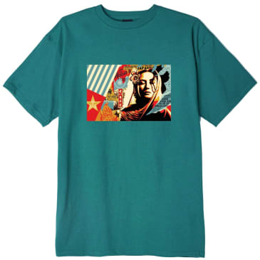 OBEY Welcome Visitor T-Shirt - Teal