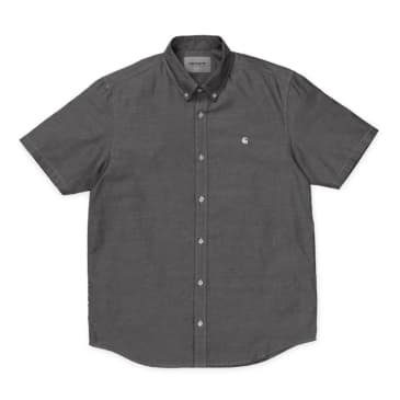 Carhartt WIP Short Sleeve Lancaster Shirt - Black/Wax