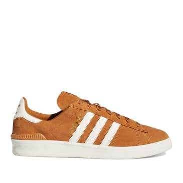 adidas Skateboarding Campus ADV Shoes - Tech Copper / Chalk White / Gold Metallic